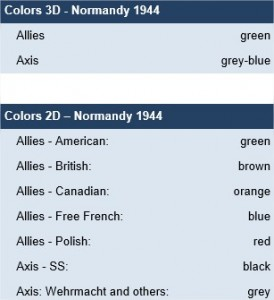 Normandy 44 - colors